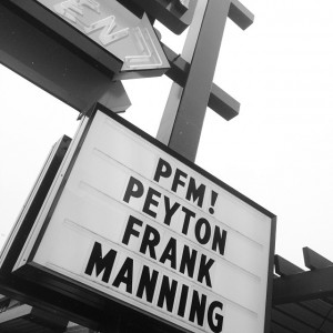 Manning Sign at Sam's Diner